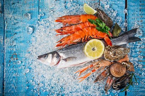 Grillskola tema fisk och skaldjur
